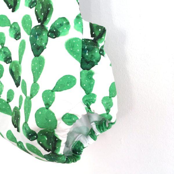 Barboteuse été imprimée cactus, dos croisé