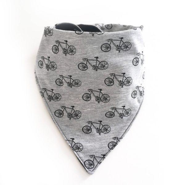 bavoir bandana jersey vélos, Bavoir anti bavouille, Bavoir moderne, bavoir gris