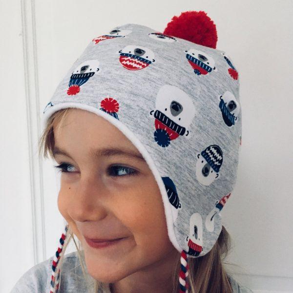 Bonnet avec oreilles lapin et snood assorti à personnaliser, pour bébé et enfant