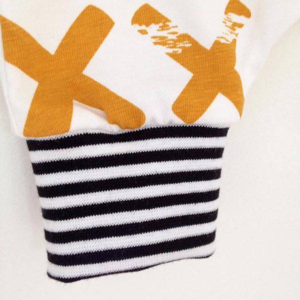 Combinaison sarouel manches courtes jersey croix moutarde
