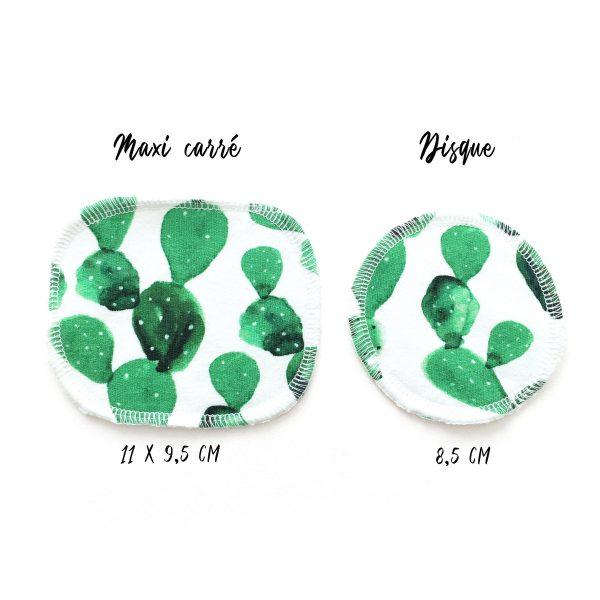 Cotons démaquillants lavables en velours de bambou biologique X7