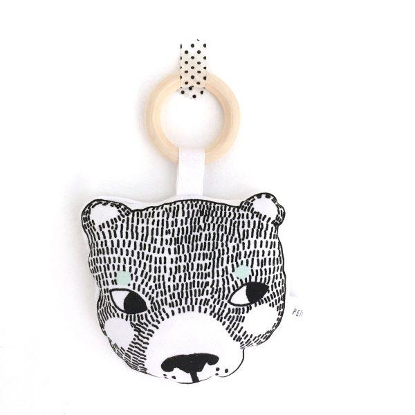 Hochet Bear avec anneau de dentition