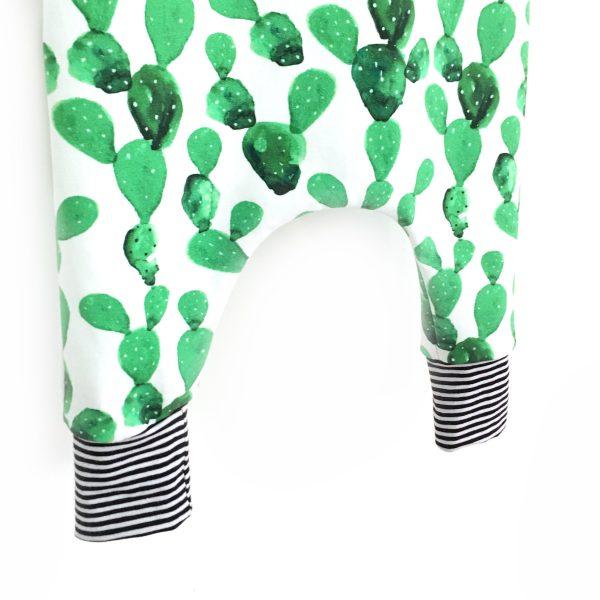 Salopette sarouel imprimée cactus