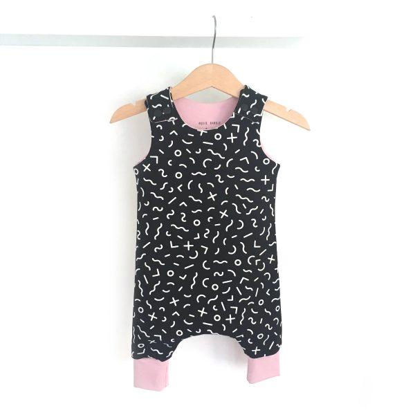 Salopette sarouel MEMPHIS BLACK pour bébé et enfant