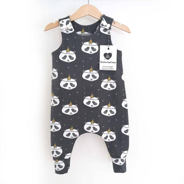 Salopette sarouel panda plume BIO