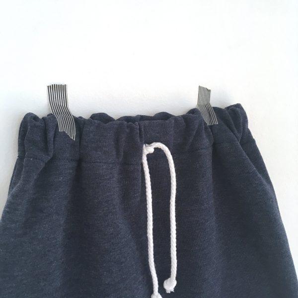 Short sarouel  bleu marine pour bébé et enfant, Sarouel court, Short à revers