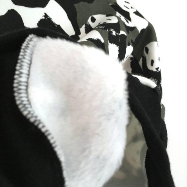 Sweat capuche PANDA KAKI  pour bébé et enfant