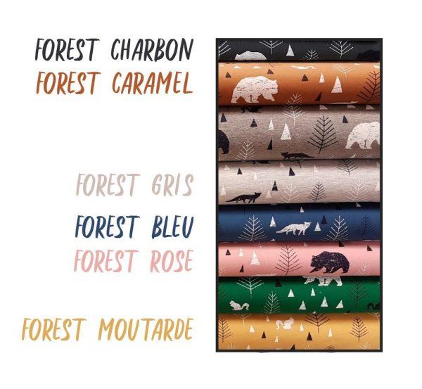 Bonnet pompon laine et snood assorti pour bébé et enfant, motif FOREST, Coloris au choix