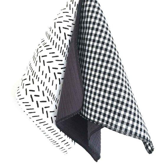Mouchoir en tissu, Lot de 3 mouchoirs en coton lavable, zéro déchet