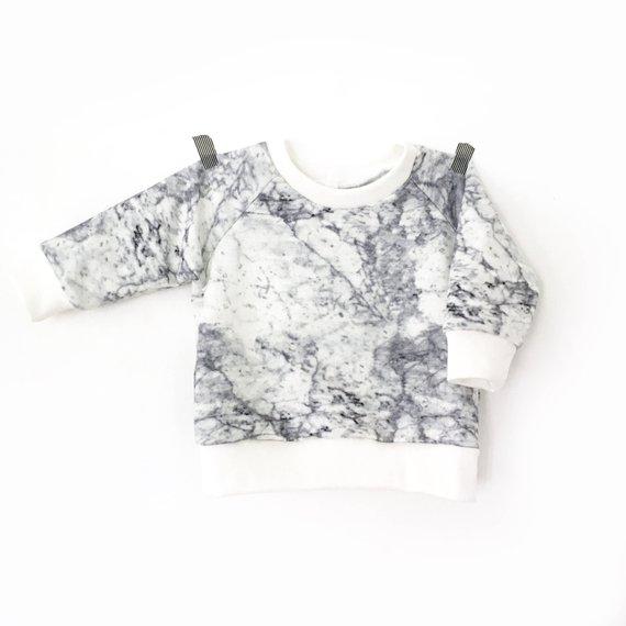 Sweat léger, imprimé Marbre pour bébé et enfant