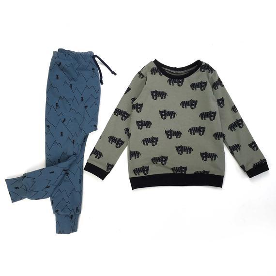 Sarouel bébé, Sarouel enfant, Sarouel jersey BLUE MOUNTAINS,