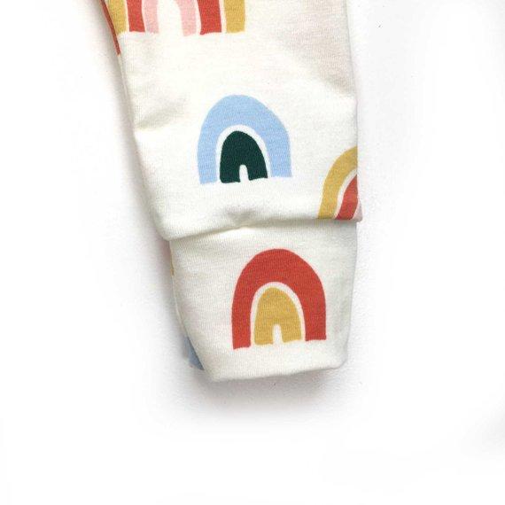 Legging enfant imprimé arc en ciel, legging bébé RAINBOW, vêtement bébé coton bio