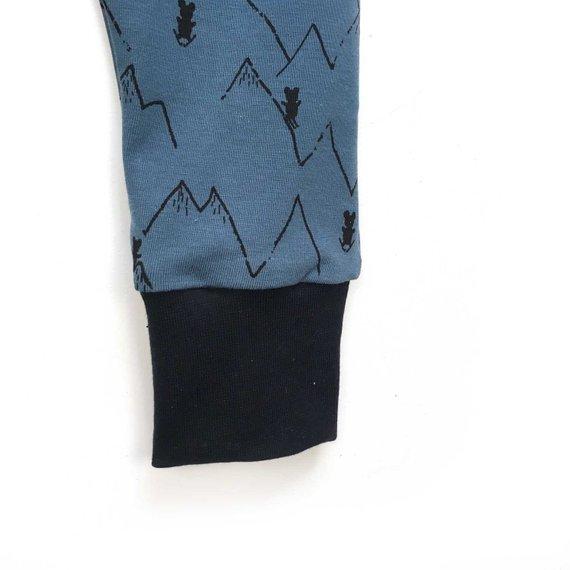 Salopette sarouel bébé, jersey Blue Mountains, de 0 à 3 ans