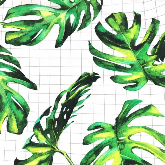 Salopette sarouel bébé MONSTERA, motif tropical