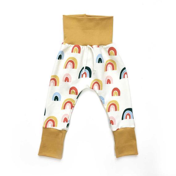 Pantalon évolutif bio pour bébé et enfant, jersey biologique Arc