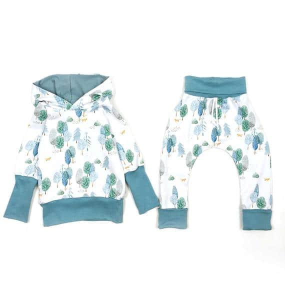 Sarouel évolutif imprimé WINTER FOX,  Pantalon pour bébé et enfant