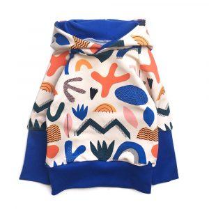 Hoodie-Papercut-bleu