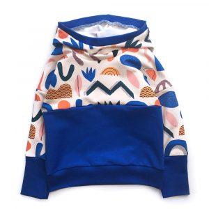 Hoodie-colorblock-bleu