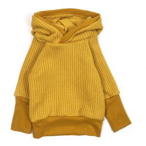 pull grosse maille jaune