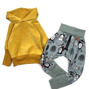 hoodie-velours-moutarde-sarouel-raccoons