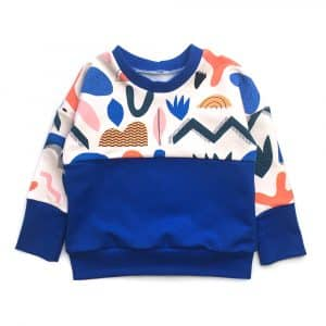 sweat-colorblock-bleu