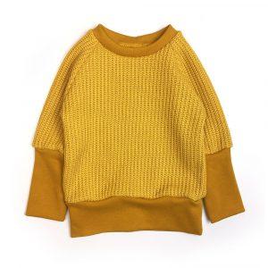 pull-maille-jaune