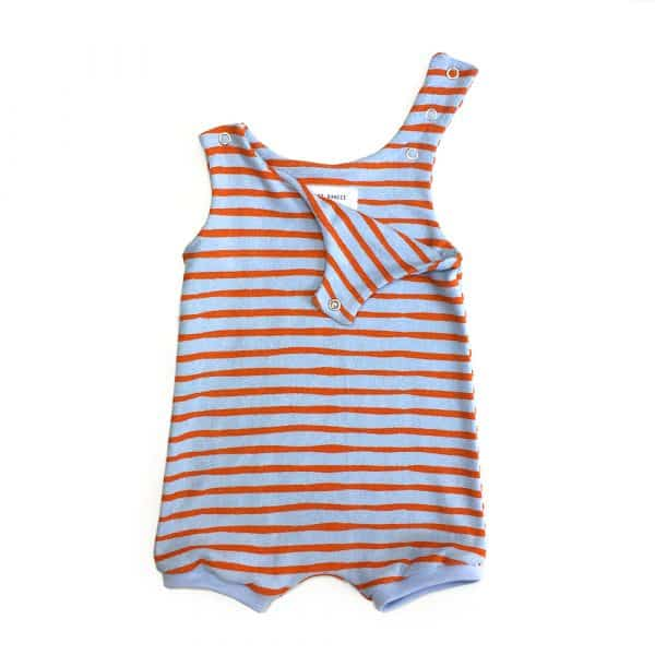 Barboteuse-orange-stripe
